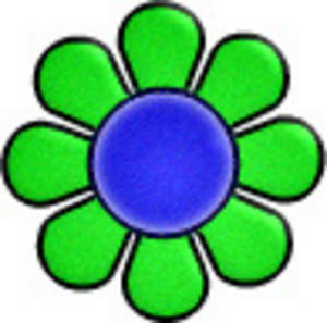 Free Retro Clipart Picture of a Day-Glo Flower