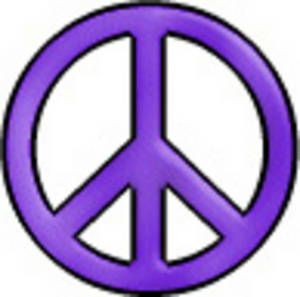 Free Retro Clip Art Illustration of a Day-Glo Peace Sign
