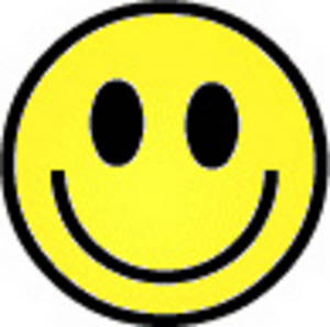 Free Retro Clipart Picture of a Smiley Face