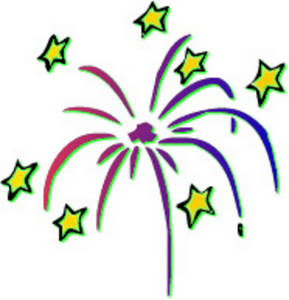 Free Picture of Fireworks and Stars