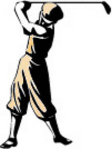 Free Vintage Clipart Picture of a Golfer - Low Resolution
