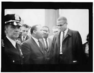 Free Library of Congress Image of Martin Luther King Jr and Malcom X. Click Here to Get Free Images at Clipart Guide.com
