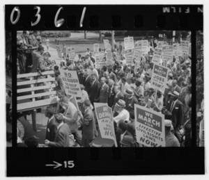 Black and White Photo of the August, 1963 Civil Rights March on Washington D.C.