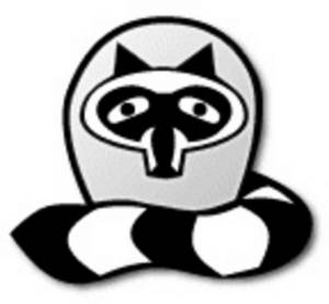 Clipart Picture of a Cute Raccoon