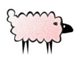 Clipart Picture of a Pink Sheep