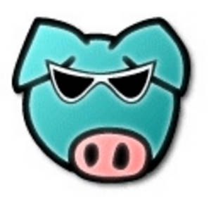 Clipart Picture of a Pig Wearing Sunglasses