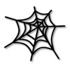Free Halloween Clipart Picture of a Spider Web
