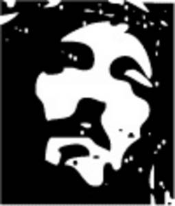 Free Clipart Picture of The Face of Jesus