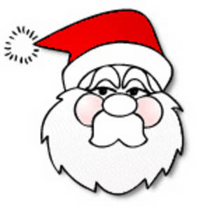 Free Christmas Clipart Picture of the Face of Santa