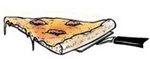 Free Clipart Picture of a Slice of Sausage Pizza