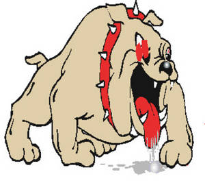 Free Clipart Image of a Big, Mean Looking Bulldog