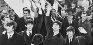 Free Photo of the Beatles in a Crowd