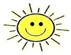 Free Clipart Picture of Smiley Face Sun