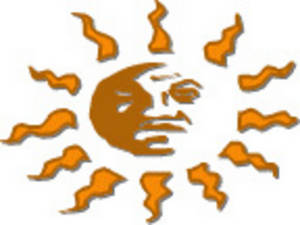 Free Clipart Picture of an Aztec Sun