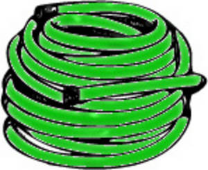 Free Clipart Picture of a Coiled up Garden Hose