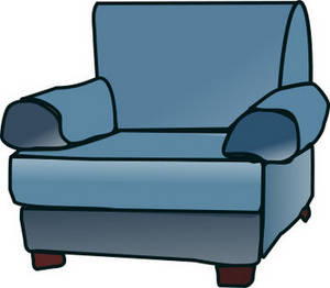 Free Clipart Picture of an Upholstered Chair