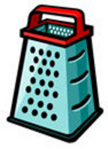 Free Clipart Picture of an Upright Cheese Grater
