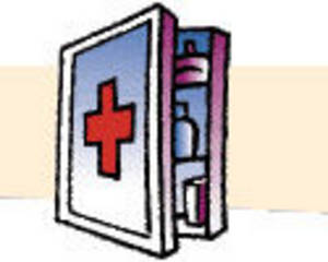 Free Clipart Picture of a First Aid Kit
