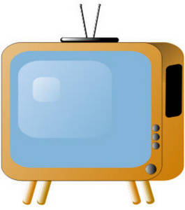 Free Clipart Picture of an Old Fashioned Television Set