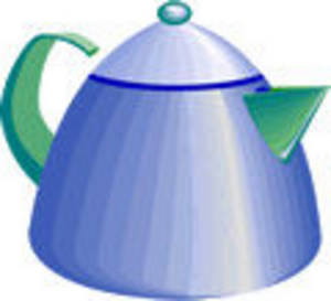 Free Clipart Picture of a Tea Kettle