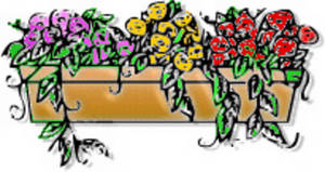 Free Clipart Picture of a Flower Box