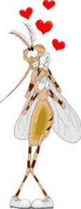 Free Clipart Picture of a Love Bug