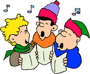 Free Cartoon Clipart Picture of Christmas Carollers