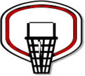 Free Clipart Image of a Basketball Hoop