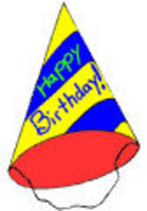 Free Clipart Picture of a Happy Birthday Party Hat