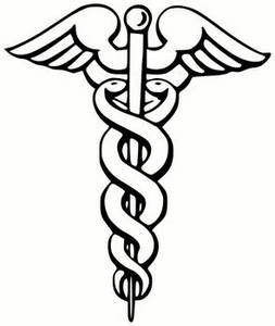 Free Clipart Picture of a Caduceus-The Universal Symbol for Surgery or Medicine