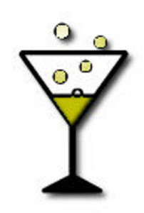 Free Clipart Picture of a Glass of Champagne