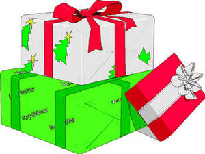 Free Christmas Clipart Picture of a Pile of Xmas Gifts