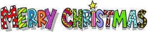 "Free Clipart Picture of a Colorful ""Merry Christmas"" Banner"