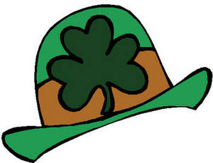 Free Clipart Image of Four Leaf Clover On a Green Hat