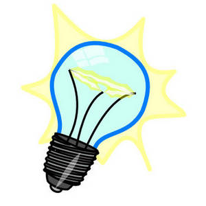 Free Clipart Picture of an Illustrated Lightbulb
