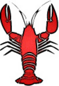Free Clipart Illustration of a Lobster