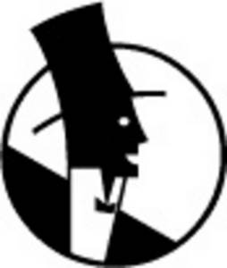 Free Clipart Illustration of a Nouveau Style Man in a Top Hat