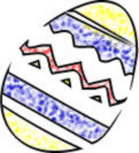 Free Clipart Picture of a Decorated Easter Egg