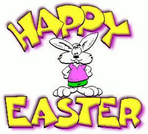 Free Clipart Picture of a Cartoon Easter Bunny