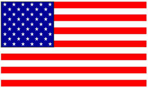 Free Clipart Illustration of a U.S. Flag