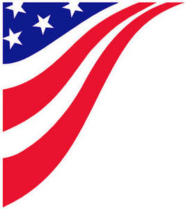 Free Clipart Image of Stars and Stripes