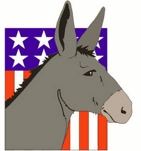 Free Political Clipart Picture of the Democratic Symbol