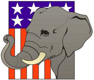 Free Political Clipart Picture of the Republican Party's Elephant