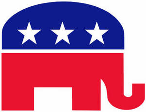 Free Political Clipart Image of the Republican Party Elephant