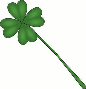 Free St. Patrick's Day Clipart Image of a Four Leaf Clover