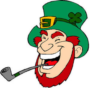 Free St. Patrick's Day Clipart Image of a Laughing Leprechaun