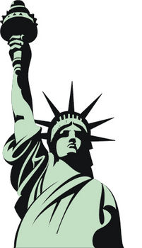 Free Clipart Illustration of The Statue of Liberty