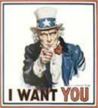 """Free Clipart Picture of Uncle Sam Saying """"I Want You"""""""