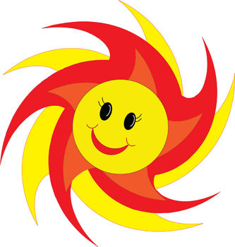 Free Clipart Picture of a Smiley Face Sun