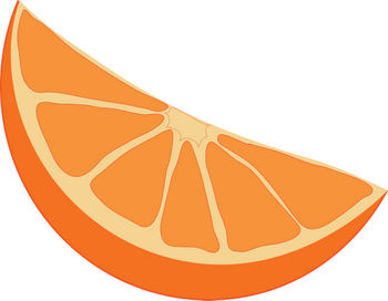 Free Clipart Illustration of an Orange Wedge